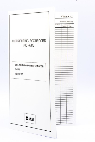 700 Pair Record book for distribution frames