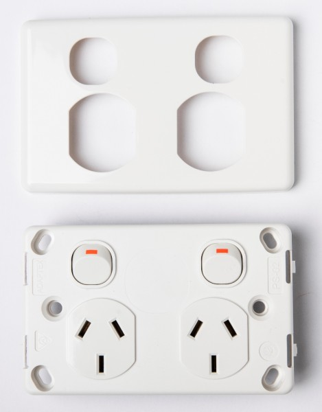 Dual GPO power and appliace outlet 240 volt