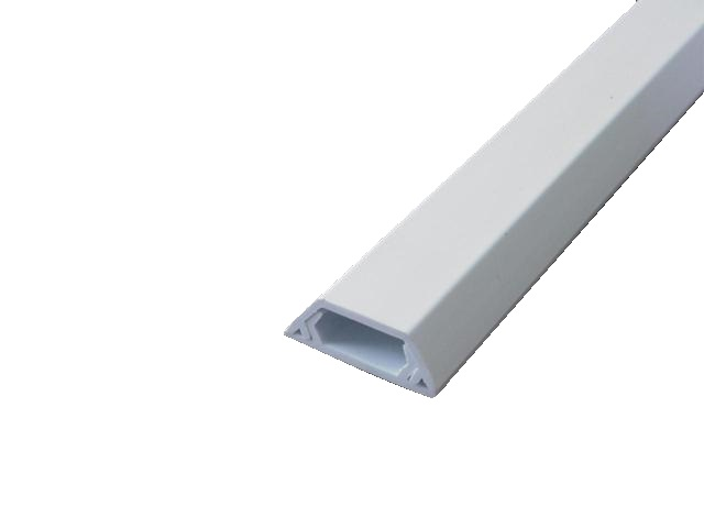 Ridged 10x6 cable ducting PVC 4m trunking